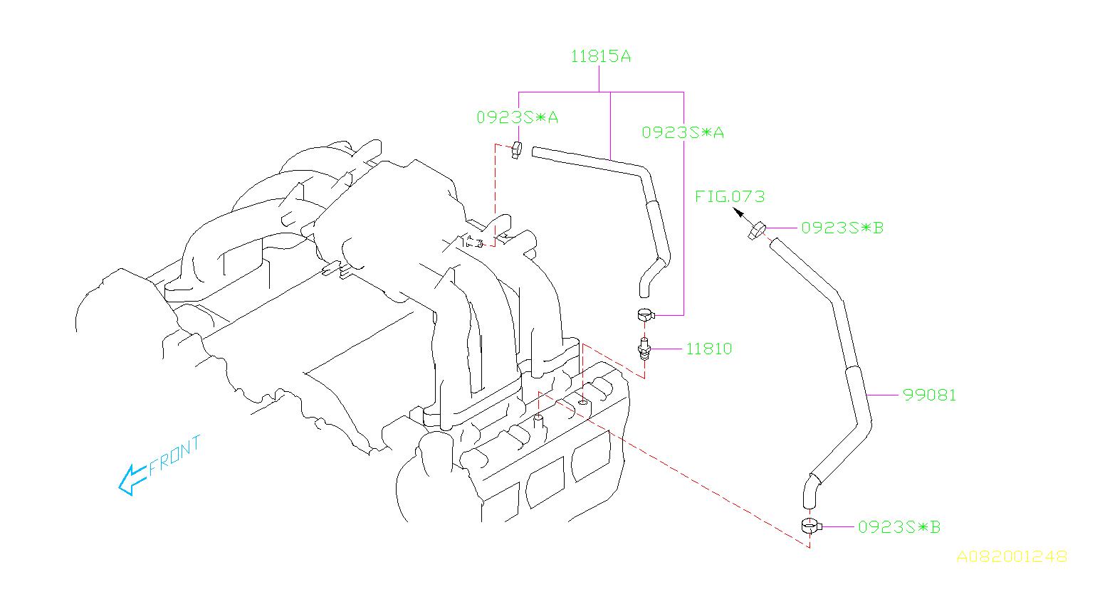 2015 subaru forester valve complete